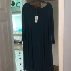 Style &Co Teal swing dress